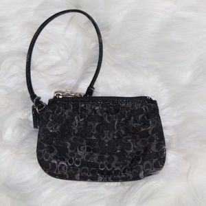 Coach Wristlet - Black and Silver